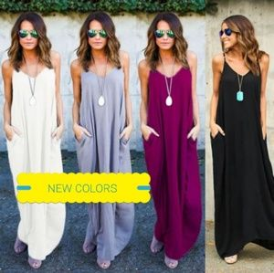 Dresses & Skirts - Plus Size Sexy Sling V- Neck Dress